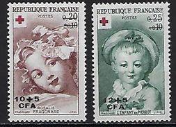 "Reunion YT 353 & 354 "" Croix-Rouge "" 1962 Neuf** - Reunion Island (1852-1975)"