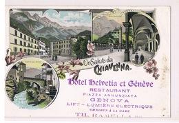 Cartolina - Postcard / Non Viaggiata - Unsent / Saluti Da Chiavenna, Hotel Helvetia Et Génève - Altre Città
