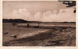 ¤ ILe Tudy - Le Môle à Marée Basse - Ile Tudy