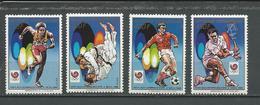 CENTRAFRIQUE  Scott 894-897 Yvert 797-798, PA379-PA380 ** (4) Cote 10,50 $ 1988 - Centrafricaine (République)