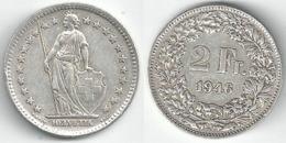 Schweiz  2 Fr. Münze           1946 - Suiza