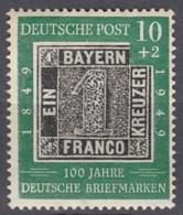 BRD 113, Postfrisch **, 100 Jahre Dt. Briefmarken, 1949 - BRD