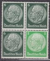 DR S 189 Im 4erBlockl, Postfrisch **,  Hindenburg 1939 - Se-Tenant