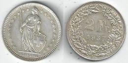 Schweiz  2 Fr. Münze           1957 - Switzerland