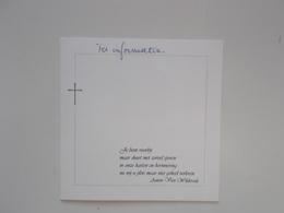 Bidprentje: Pierre AVAU Echtg. Annie QUIX, Halle 22/4/1927 - 18/9/2007 - Obituary Notices