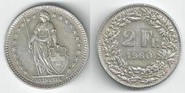 Schweiz  2 Fr. Münze           1960 - Switzerland