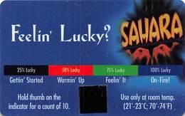 Sahara Casino Las Vegas - Feelin' Lucky Thermal Card - Casino Cards