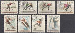 UNGHERIA - 1955 - Serie Completa Formata Da Otto Valori Obliterati: Posta Aerea Yvert 181/188. - Posta Aerea