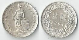 Schweiz  2 Fr. Münze           1964 - Switzerland