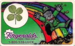 Fitzgerald's Casino Black Hawk, CO - Encapsulated Four Leaf Clover Card (blank Reverse) - Casino Cards
