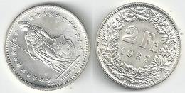 Schweiz  2 Fr. Münze           1967 - Switzerland