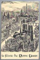 Programme La Féerie De Notre-Dame Imaginée Et Mise En Oeuvre Par Louis Merlin Au Quai De Montebello De 1963 - Programs