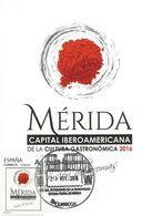 "Spain Maxicard 2016– España Tarjeta Máxima ""Mérida. Capital Iberoamericana De La Cultura Gastronómica"" - Food"