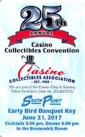 CCGTCC Casino Collectibles Show At South Point Casino Las Vegas 2017 (blank Reverse) - Casino Cards