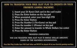 Golden Nugget Casino - Las Vegas - Paper 24 Karat Club Instruction Card - Casino Cards