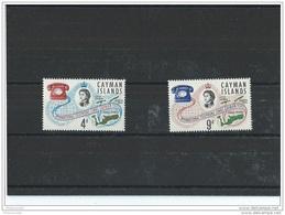 CAIMANES 1966 - YT N° 193/194 NEUF SANS CHARNIERE ** (MNH) GOMME D'ORIGINE LUXE - Iles Caïmans