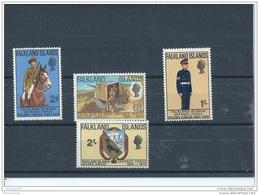 FALKLAND 1970 - YT N° 182/185 NEUF SANS CHARNIERE ** (MNH) GOMME D'ORIGINE LUXE - Falkland