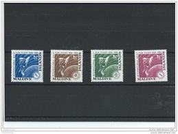 MALDIVES 1965 - YT N° 147/150 NEUF SANS CHARNIERE ** (MNH) GOMME D'ORIGINE LUXE - Maldives (1965-...)