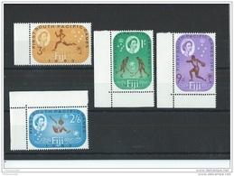 FIDJI 1963 - YT N° 173/176 NEUF SANS CHARNIERE ** (MNH) GOMME D'ORIGINE LUXE - Fidji (1970-...)