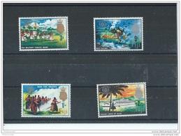FIDJI 1967 - YT N° 208/211 NEUF SANS CHARNIERE ** (MNH) GOMME D'ORIGINE LUXE - Fidji (1970-...)