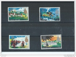 FIDJI 1967 - YT N° 208/211 NEUF SANS CHARNIERE ** (MNH) GOMME D'ORIGINE LUXE - Fiji (1970-...)