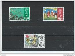 FIDJI 1969 - YT N° 256/258 NEUF SANS CHARNIERE ** (MNH) GOMME D'ORIGINE LUXE - Fiji (1970-...)