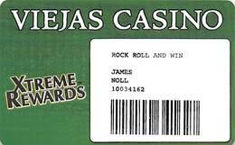 Viejas Casino - Alpine CA - Paper Rock Roll And Win Card - Casino Cards