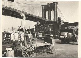 V2835 Photo Foto - Reproduction - New York - Brooklyn Bridge 1937 - Photograph By Berenice Abbott / Non Viaggiata - Photographs