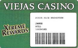 Viejas Casino - Alpine CA - Paper Poker Face Promo Card - Casino Cards