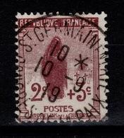 YV 148 Oblitere 1ere Orphelins Belle Frappe Centrale De 1919 Cote 10 Euros - France