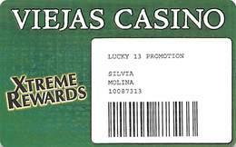 Viejas Casino - Alpine CA - Paper Lucky 13 Promo Card - Casino Cards