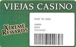 Viejas Casino - Alpine CA - Paper Play To Shop Card - Casino Cards