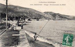 ¤ Menton - La Plage - Promenade Du Midi - Menton