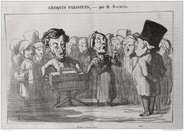 1874 Honoré DAUMIER - CROQUIS PARISIENS - OFFENBACH AUX ENFERS - THEATRE DE LA GAITÉ  - LE JOURNAL AMUSANT - Livres, BD, Revues
