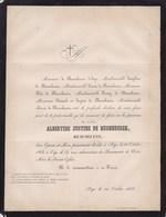 AYE MARCHE Albertine De NEUNHEUSER Née DE PREZ D'AYE 69 Ans 1868 Faire-part Mortuaire - Obituary Notices