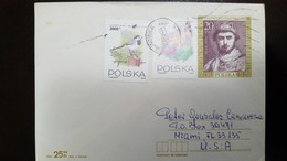 O) 1993 POLAND. KING  KAZIMIERZ I ODNOWICIEL, BIRD CALLISTEMON SPECIOUS-MOTACILLA ALBA, POSTAL STATIONERY TO USA - 1944-.... Republic