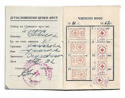 Member Card Macedonia Yugoslavia 1960 RED CROSS And Porto Stamp - Historische Documenten