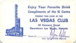 Las Vegas Club Casino Las Vegas, NV - Early Paper Free Drink Coupon - Advertising