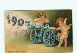 ANGE-  ANGES - ANGELOT - ANGELOTS Année 1907 - Canon - Carte Gaufrée - Angels