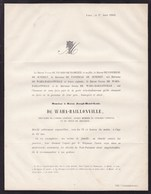 PLAINEVAUX Baron Joseph-Henri De WAHA-BAILLONVILLE 63 Ans 1863 Ancien Sénateur Ancien Membre Du Congrès National 1830 - Obituary Notices