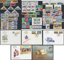 Lot Of 94 Stamps And 5 Covers On The Subject Of Cars And Motorcycles, MNH (**) And Used (o) - Stamps