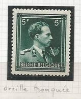 1944 - COB N° 696-V1 - * (MH) - Oreille Tronquée - Variétés Et Curiosités