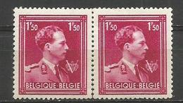 1944 - COB N° 691 - ** (MNH) - Paire Horizontale - Impression BERINGEN Au Dos ??? - RRR - Variétés Et Curiosités