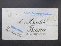 BRIEF Villazzano - Brno Militärpflege    ///  D*35078 - Briefe U. Dokumente