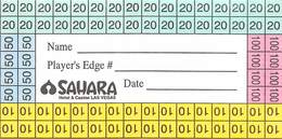 Sahara Casino Las Vegas Paper Contest Card - Casino Cards