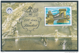 1263 Hungary 1999 Anniversary Chain Bridge Memorial Sheet MNH - Feuillets Souvenir