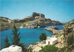 V2844 Rodos Rhodes Rodi Rhodos - Lindos - The Harbour Of Saint Paul / Non Viaggiata - Grecia