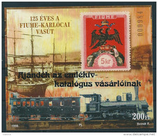 1262 Hungary Transport Railway Line Anniversary Overprint Memorial Sheet MNH RARE - Feuillets Souvenir