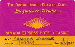 Ramada Express Casino - Laughlin, NV - Paper Signature Member Card - Casino Cards