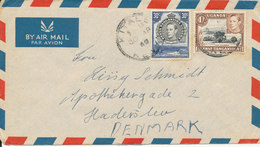 Kenya Uganda Tanganyika Air Mail Cover Sent To Denmark 30-4-1949 - Kenya, Uganda & Tanganyika